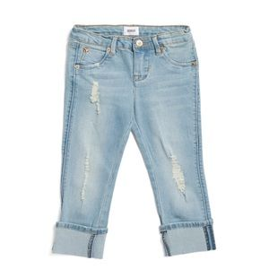 NWT Hudson Kids Washed Blue Skinny Roll Up Jeans 6